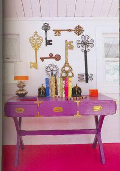 adler's purple desk