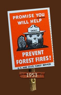1947 U.S. & State Forest Services Stamp. Smokey the Bear ...