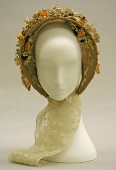 1838 Lady's Bonnet made of straw and horsehair