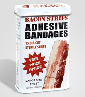 bacon bandaids-I wonder what the kids would think of these?  hehe
