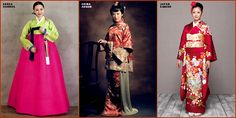 "mad interesting: COSTUME PLANET: Korean ""Hanbok"" vs Chinese ""Cheongsam"" vs Japanese ""Kimono"""