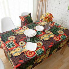 Mediterranean Tablecloth Luxury Europe Endless Cotton Linen Cloth #Kitchen_Decoration #Kitchen_Table_Decoration #Kitchen_Accessories