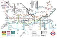 London Underground Map: If you are a fan or resident or fan of London than this is the poster for you. This poster features an actual London Underground Subway location route map. London Tube Map, London Map, Old London, London Travel, London Underground, Underground Lines, U Bahn Plan, Festival Coachella, Frames