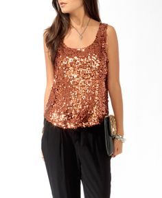 Shimmering Paillette Tank, Forever 21 - Product Code: 2017307317, €12.40
