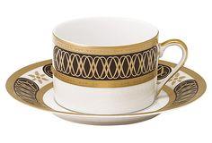PHILIPPE DESHOULIERES LIMOGES Porcelain Abassides Tea Cup