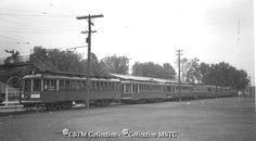 Group of seven OTC cars at Britannia Park that took some thirteen hundred members of the NRHA on a tour of Ottawa on Sunday in October 1951. First four cars bore the letters NRHA in rotation.
