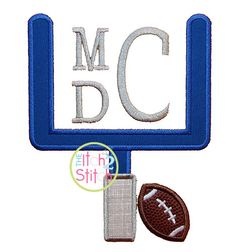 Football Goal Applique Design In Sizes 4x4 5x7 & by TheItch2Stitch