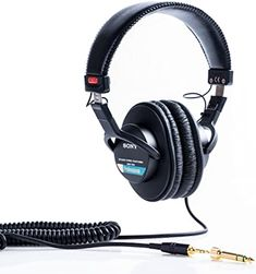Professional Large Diaphragm Dynamic, Closed Headphones. Complete with protective carry pouch and gold-plated UnimatchTM 3.5mm/6.3mm adaptor. Neodymium magnet. frequency response: 10Hz - 20kHz. Z = 63 Ohms. Best Headphones Under 100, Cheap Headphones, Studio Headphones, Sports Headphones, Workout Headphones, Iphone Headphones, Music Headphones, Over Ear Headphones, Drum Accessories