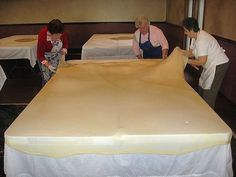 Strudel Dough Stretched Paper Thin