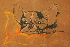 Hund, Bulldogge, Zeichnung, Dog