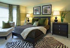 Deep blue & green. Contemporary bedroom by Ragan Corliss