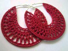 Crochet Thread Earrings Tutorial - YouTube