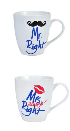The most amazing mugs to celebrate each other.  P.S. fill up with some chocolate to go with your morning coffee!