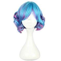 Amazon.com: Topbill Fashion Cute Anime Lolita Short Multicolor of Cosplay Wigs: Clothing