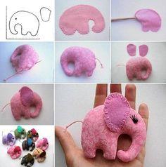 DIY felt elephant