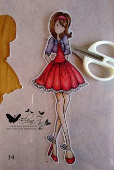 SCRAP-lanak GANBARAN: Tutorial Shrinking plastic and Copic pendants