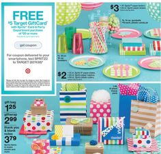 Recent Spritz Target Ad Partysupplies Giftwrap Paperstraws Partydecor Giftbags
