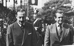 Dictator Jorge Videla en Maximá's vader Jorge Zorreguiéta