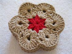 Crochet Coaster  African Flower Coasters  Set by afewlittlebumps, $9.00