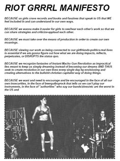 BECAUSE us girls crave records and books and fanzines that speak to US that WE feel included in and can understand in our own ways. Punk Baby, Riot Grrrl, Kathleen Hanna, Rock Revolution, Bikini Kill, Sofia Coppola, Louvre, Music Promotion, Punk Goth