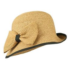 BeautyShe Womens Big Bowknot Straw Hat Foldable Roll up Sun Hat Beach Cap UPF 50+