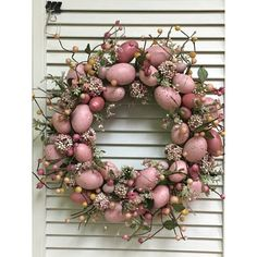 The Holiday Aisle Egg Wreath Size: Wreath Hanger, Diy Wreath, Ornament Wreath, Pre Lit Wreath, Indoor Wreath, Easter Wreaths, Christmas Wreaths, Spring Wreaths, Silver Christmas Decorations