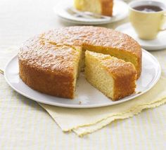 Bake a classic lemon drizzle cake with this easy recipe, perfect for everyday baking and occasions. Find more cake recipes at BBC Good Food. Low Fat Cake, Turnip Cake, Polenta Cakes, Lemon Polenta Cake, Polenta Recipes, Lemon Drizzle Cake, Bbc Good Food Recipes, Bbc Recipes, Healthy Cake