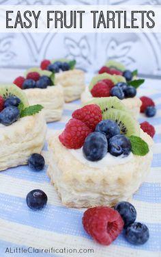 Fruit Tartlets Recipe   12 Fruit Filled Desserts at ALittleClaireification.com #recipe #desserts #brunch