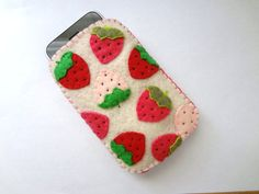 A Bounty of Strawberries strawberry soft by shopofworldlydelight, $22.00