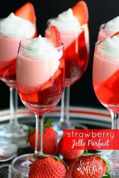 Strawberry Jello Parfait - FamilyFreshMeals.com -