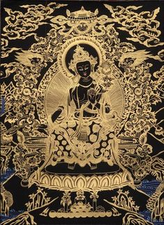 Find elegant Thangka Paintings of Buddha & other such exquisite Indian Artwork at ExoticIndia, the largest online store for Indian Paintings & Art. Buddha Buddhism, Buddha Art, Tibetan Buddhism, Thangka Painting, Buddha Painting, Vajrayana Buddhism, Maitreya Buddha, Tibetan Art, Spiritus
