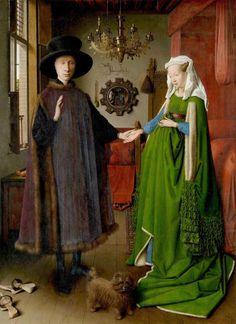 Jan van Eyck, Die Arnolfini-Hochzeit (The Arnolfini Portrait) The Arnolfini Portrait, L'art Du Portrait, Pencil Portrait, Renaissance Kunst, Renaissance Paintings, Italian Renaissance, Jan Van Eyck Paintings, Famous Art Paintings, Original Paintings