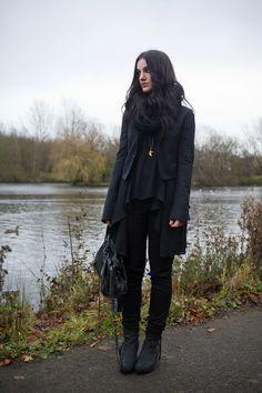 Fashion blogger Stephanie of FAIIINT wearing Todd Lynn x Topshop tux jacket, LOVE in love with fashion drape drop side top, Meltin Pot B-sid...