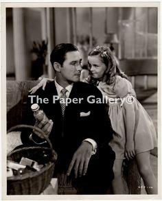Movie Still Photograph of Errol Flynn and Patti Brady in Never Say Goodbye- #Errol #Flynn