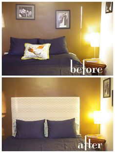 Have to pin my girl jess's DIY headboard project! complete with step by step pictures & directions on her blog :) @Jess Ankney
