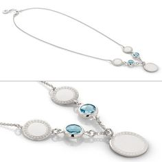 Azzurra Collection: necklaces bracelets and earrings in silver 925 and stones