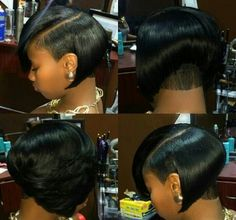 """It can not be repeated enough, bob is one of the most versatile looks ever. We wear with style the French """"bob"""", a classic that gives your appearance a little je-ne-sais-quoi. Here is """"bob"""" Despite its unpretentious… Continue Reading → Dope Hairstyles, Short Bob Hairstyles, Black Women Hairstyles, Hairstyles 2018, Love Hair, Gorgeous Hair, Amazing Hair, Unordentlicher Bob, Short Hair Cuts"""