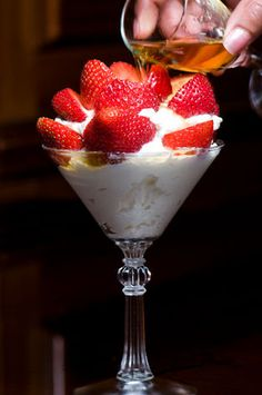 Strawberries with Grand Marnier Cream...