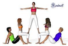 Cheer Coaches, Cheer Stunts, Cheer Dance, Aerial Gymnastics, Acrobatic Gymnastics, Acro Danse, Figure Yoga, Gymnastics Routines, Cheerleading Hair Bows
