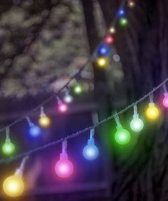 This Multi-Color String LED Globe Lights is perfect! #zulilyfinds