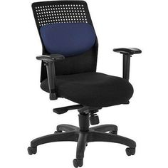 OFM AirFlo Series Executive Task Chair, Multiple Colors, Black