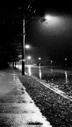 The rain at night