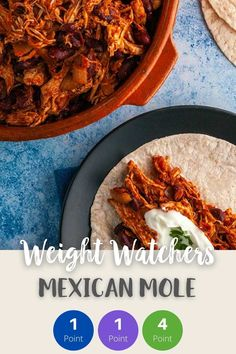 This Mexican Mole is just 1 Smart Point per very generous portion on Weight Watchers Blue, Purple & Freestyle plan & 4 SmartPoints on Green. A perfect Weight Watchers dinner recipe served wrapped in a tortilla wrap or served with a side of rice. #weightwatchersfreestylerecipes #weightwatchers #weightwatchersrecipeswithpoints #smartpoints #weightwatchersgreenplan #weightwatchersblueplan #weightwatcherspurpleplan #wwrecipes #lowpointrecipes Weight Watcher Dinners, Weight Watchers Free, Weight Watchers Chicken, Friend Chicken Recipe, Chicken Recipes, Mexican Mole, Tortilla Wraps, Chicken Casserole, Ww Recipes