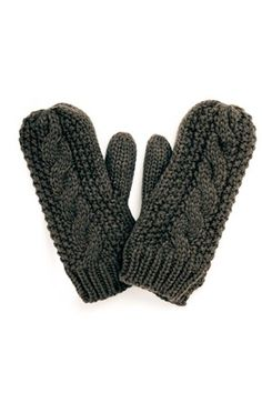 INTERLINKING CABLE MITTENS - Accessories - French Connection Usa