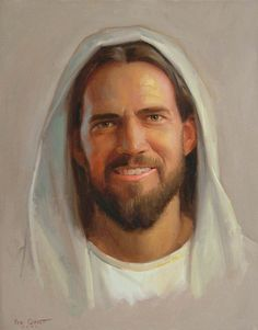Picture of Jesus smiling Paintings Of Christ, Jesus Painting, Lds Pictures, Pictures Of Christ, Lds Art, Bible Art, Jesus Laughing, Jesus Smiling, Our Father In Heaven