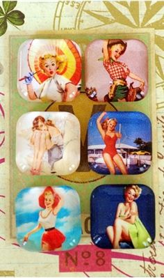 I have an old desktop calendar with 365 pin-up images that I couldn't throw out. I know what I am doing with them!