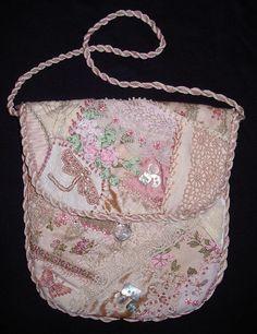 A crazy quilt bag