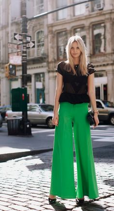 lovely thirties inspired palazzo pants: color crush