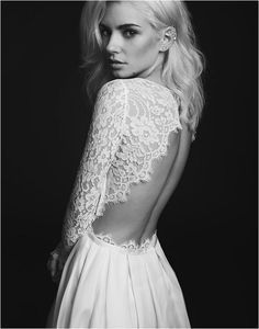 Backless weddng dress by Rime Arodaky http://rstyle.me/n/bnsijdb6he7
