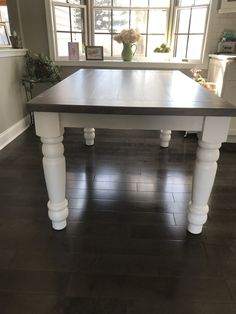 Classic Chunky Turned Leg Farm Table Elegant French Country Dining - Farmhouse table atlanta